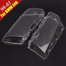2Pc Left & Right Headlight Lens Cover For BMW E46 3-Series 4DR Wagon/Sedan 99-01