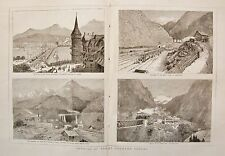 1882 OPENING OF THE ST GOTHARD TUNNEL TRAINS GREAT TUNNEL GOESCHENEN