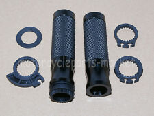 "Universal Motorcycle Handlebar Hand Grips CNC Aluminum 7/8"" Bar w/ Throttle Tube"