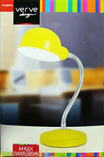 Yellow Desk Lamp with Adjustable Gooseneck Stand 240V E14 Max 40W