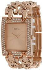 GUESS Rose Gold-Tone Chain Link Ladies Watch U0072L3