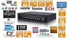 8 CH Embedded Linux 1000GB (1TB) H.264 Network CCTV Security DVR D1 480FPS 960H
