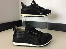 Dsquared2 Boys Sneakers, Uk 11, Eu29, Black Leather Trainers, Runners, GC