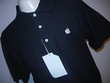 APPLE LOGO Button Up Polo Embroidered Shirt  iPod NEW SMALL PORT AUTHORITY NEW