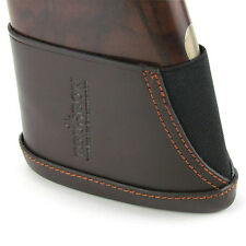 Tourbon Shotgun Rifle Butt Stock Holder Leather Slip-on Recoil Pad Gun Hunting