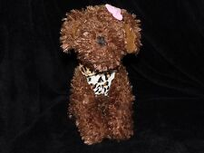 PRIMARK PUPPY DOG SOFT TOY COMFORTER BROWN LEOPARD SKIN COAT DOUDOU