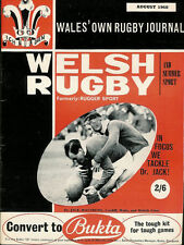 Welsh Rugby Magazine août 1968, Kenfig Hill, pontyberem, Cross Keys Utd