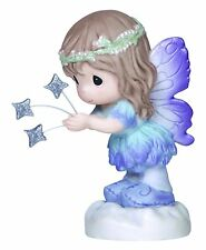 Fairy Sending You A Christmas Wish Precious Moments Stars Rare Figurine NWOB