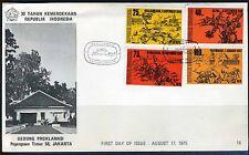 INDONESIE: ZB 828/831 FDC 1975 30 jaar Onafhankelijkheid