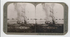 WWI Stereoview (Realistic) - Trapped German submarine, blown out of the water