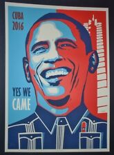 OBAMA - YES WE CAME / Rare Cuban Screen-print Poster Salutes Historic Cuba Visit
