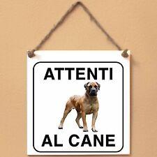 Boerboel 2 Attenti al cane Targa piastrella cartello ceramic tiles
