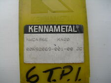 3 off Kennametal top notch threading inserts NWC4R6E K420 ( NWC 4 R 6E )