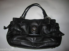 Coach Peyton Black Leather Medium Carryall Tote Purse Bag #14522