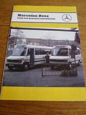 MERCEDES BENZ VAN MINIBUS CONVERSIONS TRUCK SALES BROCHURE 1992