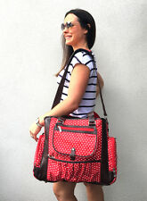Large Stylish Fashion Carry Diaper Nappy Baby Bag RED NEW POPULAR BNWT