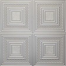 Decorative Ceiling Tiles Styrofoam 20x20 R11 Silver Painted