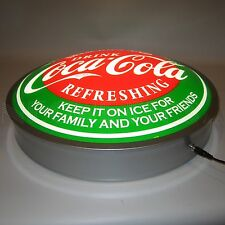 "New Drink Coca Cola Delicious Refreshing LIGHT UP 15"" Coke sign  Fast Free Ship"
