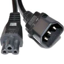 0.5m IEC Plug C14 to Cloverleaf Plug C5 Converter Adapter Power Cable [006572]