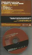 FABOLOUS P. DIDDY & JAGGED EDGE Trade it all & INSTRUMENTAL & ACAPELLA PROMO CD