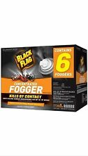 BLACK FLAG Concentrated Indoor Bug / Insect Fogger Spray, 6 Cans / Box, NEW!