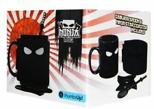 Ninja Mug Ceramic Spoon Shuriken Star Coaster Removable Sleeve Tea Coffee Cup