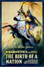 Birth of a Nation 1915 DW Griffith Silent Film Poster 7x5 inch