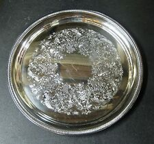 "Round 12"" Silverplate Serving Tray ~ *vintage*"