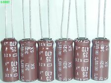 NEW 5 X NIPPON NCC 25V 470UF 105°C 8X20 KZE Motherboard Low ESR CAPS CAPACITOR