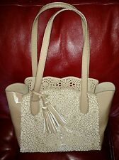 BUCO Large Starburst Tote Faux Leather Bag NEW with defects see pictures