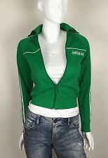 Adidas Women's Full Zip Athletic Top Green Size XS New