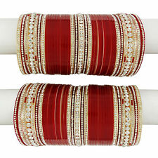 Indian Traditional Wedding Bridal Chura Set Bollywood CZ Stone Choora Jewelry
