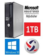 Dell Windows 10 Desktop Computer 1TB HDD | 8GB RAM | Wifi | 2.80GHz Processor