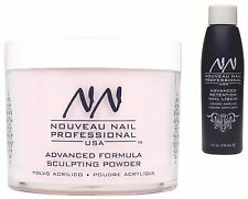 NOUVEAU NAIL ACRYLIC LIQUID 4oz & POWDER Soft Pink 20g  false tips starter kit