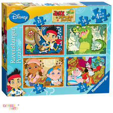 JAKE AND THE NEVER LAND PIRATES 4 IN A BOX 12/16/20/24 PIECE RAVENSBURGER JIGSAW