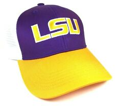 LOUISIANA STATE UNIVERSITY LSU TIGERS MESH TRUCKER SNAPBACK HAT CAP ADJUSTABLE