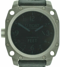U-Boat Thousends of Feet in blau Edelstahl matt XXL Uhr 50mm mit Box +Papieren