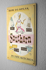 Nostalgic Tin Sign  Southern dialect pronunciation Kitchen Salt Pepper Butter Su