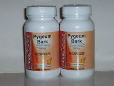 PYGEUM BARK 500MG  PROSTATE SUPPORT MALE URINARY HEALTH 120 CAPSULES 2 BOTTLES