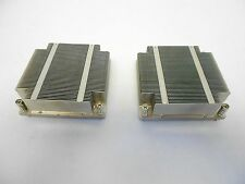 2qty Supermicro 1U SNK-P0037P LGA1366 Intel Xeon Heatsink X8 Heat Sink lot of 2