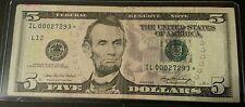 2006 $5 STAR Serial # IL00027293*