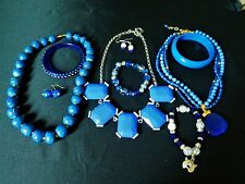 Mod Jewelry lot Blues NWOT Banana Republic Necklace UK Wildcats Blue Bracelet