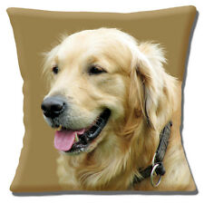 "Adulto Golden Retriever Cane Close Up Testa Multicolore 16"" CUSCINO COVER"
