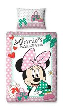 Disney Minnie Mouse Linge de lit Makeover Enfants Fille Panneau Set 135x200 neuf