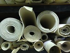 """High Temp FDA 12"""" x 12"""" White Silicone Rubber Sheet 1/4"""" thick - 45 durometer"""