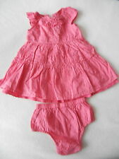 Baby Girls Clothes 3-6 Months - Cute Pink Dress & Knickers