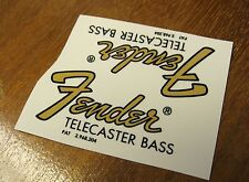 Fender Telecaster Bass Headstock Waterslide Decal Lot 64-68 Tele Vintage Guitar