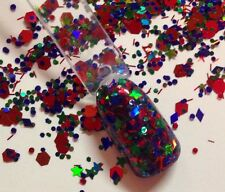 glitter mix acrylic gel nail art    Primarily