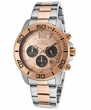 Invicta 17400 Men's Pro Diver Chrono Two-Tone Stainless Steel Rose-Tone Dial