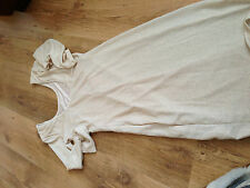 womans size 8 Miss Selfridge long sleeve low back ivory shimmer dress 100% authe